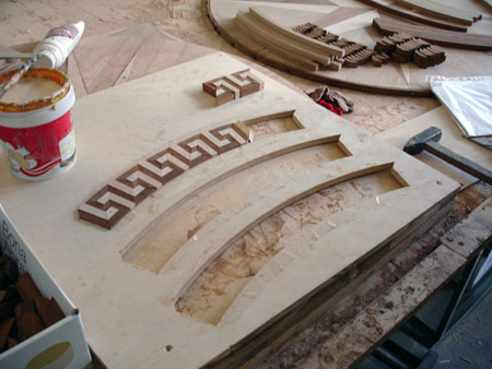Assembling Inlay pieces together