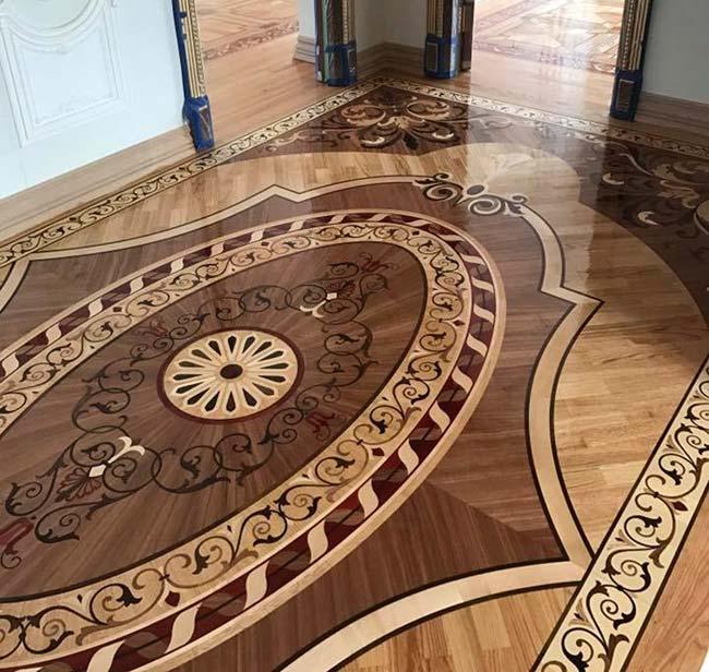 537: Wood Rug Floor Example