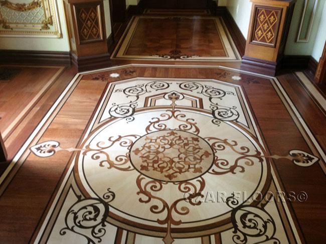 449: Custom Inlay in Foyer