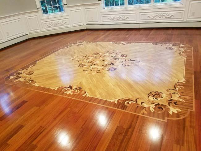 553: Wooden 'Rug' inlay with Brazilian Cherry Floors