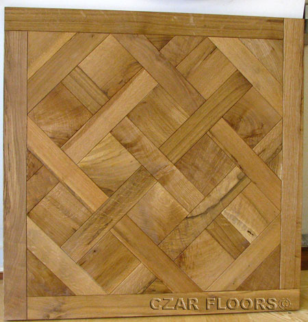 389: Charachter Grade White Oak Versailles Parquet