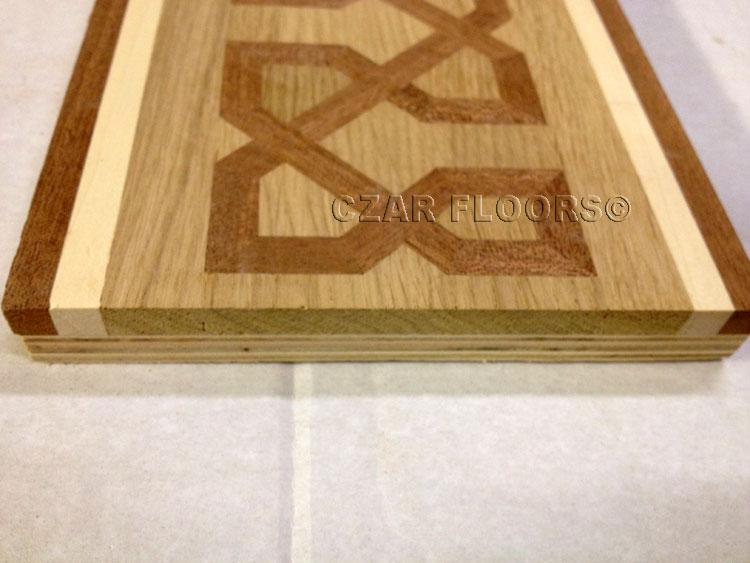 Close up of wood floor  border B5 construction