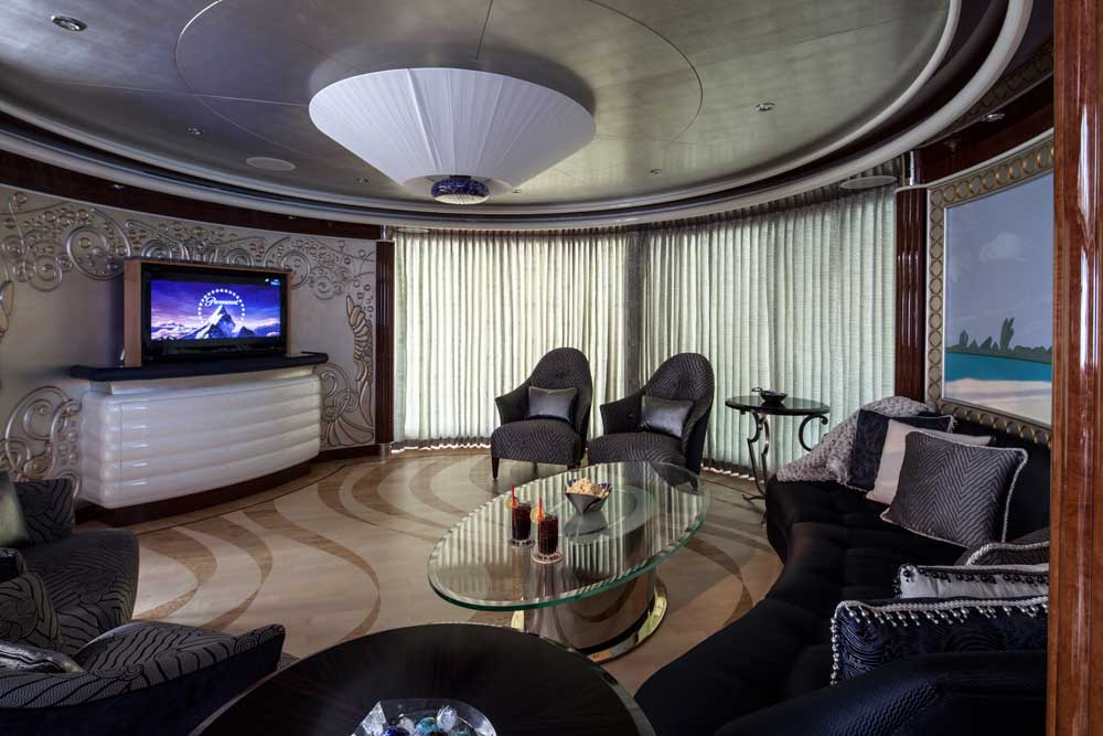 Custom flooring on Yacht lounge