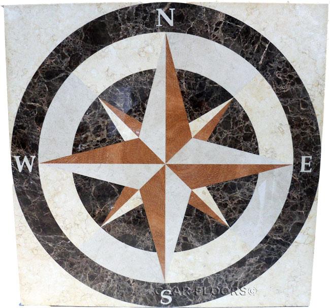423: Custom Nautical Medallion based on SC2 design in square shape