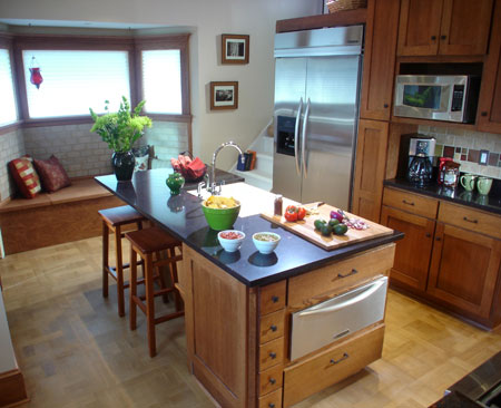 307: DYI Kitchens Renovations TV Show chose M4 parquet for this Kitchen