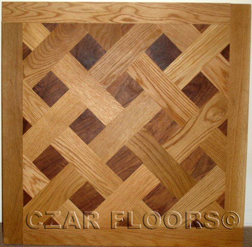 392: Versailles parquet example with White Oak and Walnut