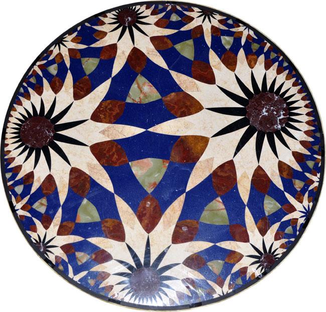 440: Custom Modern marble medallion