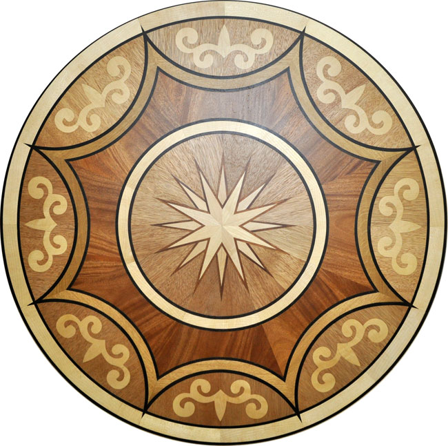 445: P44 wood medallion