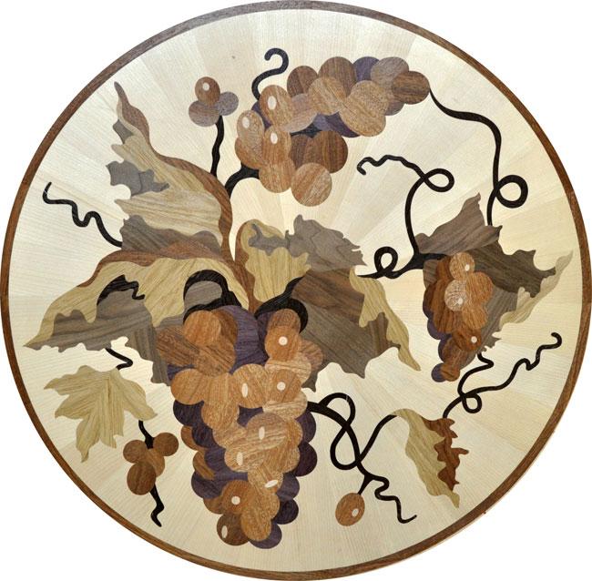 435: Grapes custom wood medallion