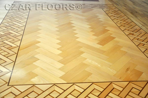 Maple Herringbone hardwood floor