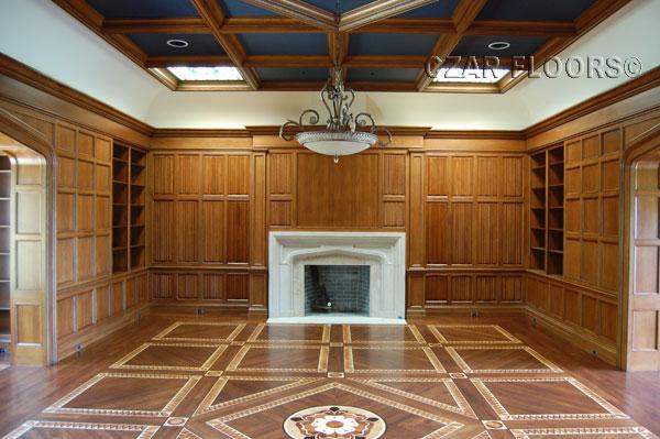 418: Library custom floor