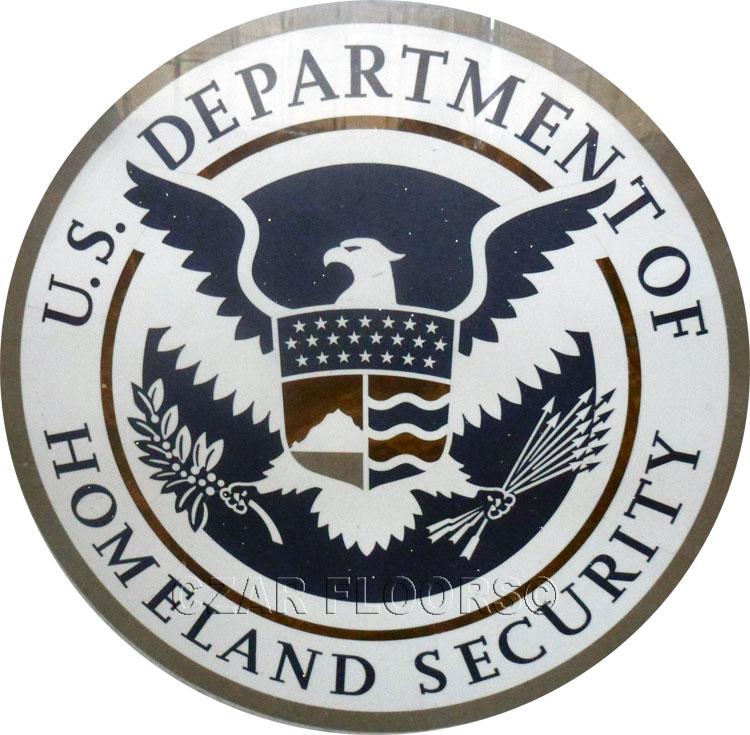 Custom stone wall logo for DHS