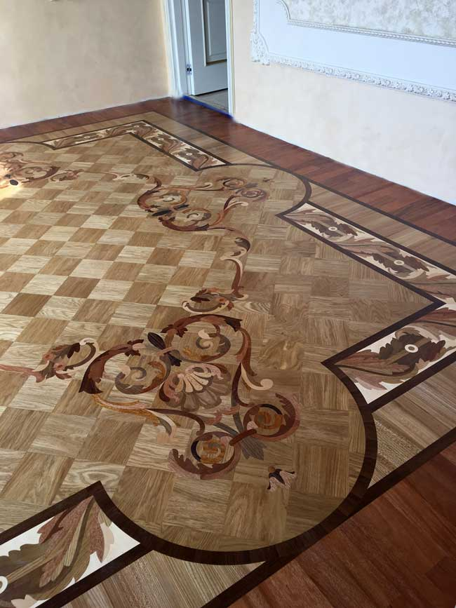 507: Wood Rug inlay