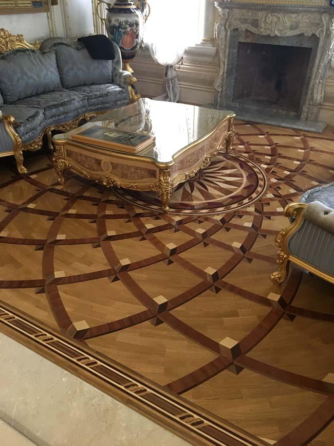 558: Custom 3D wood rug won 2019 NWFA Floor of The Year Award
