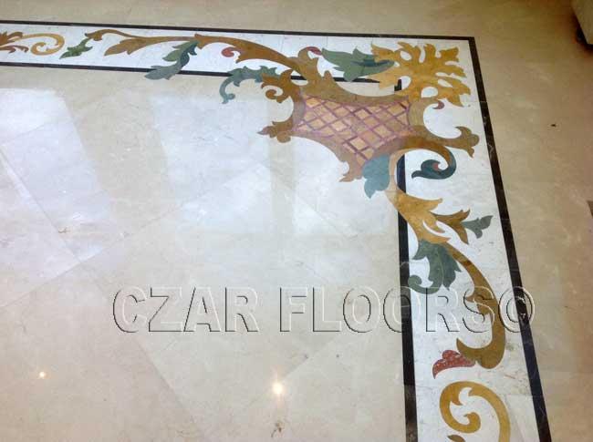 480: Custom marble border corner