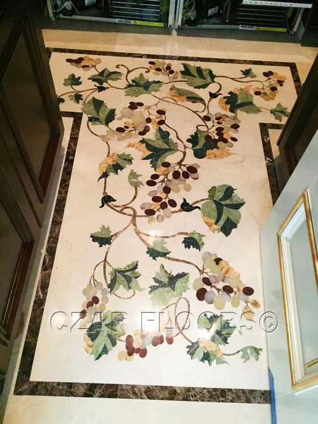 477: Grapes marble floor in wine cellar