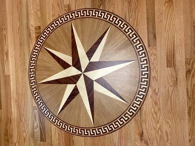597: PC7 wood medallion