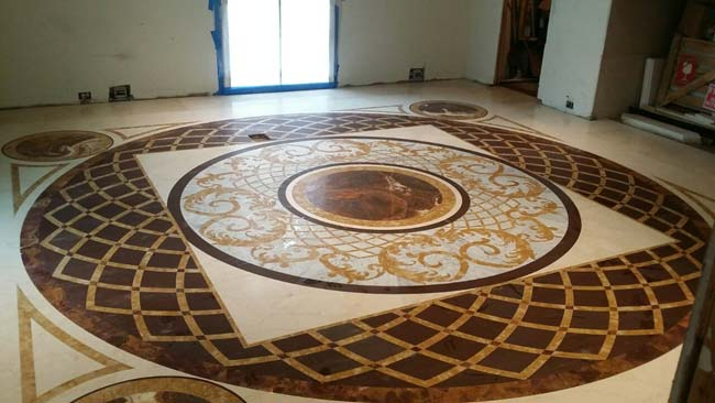 579: Large custom marble design