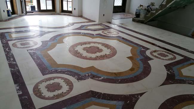 583: Marble floor design