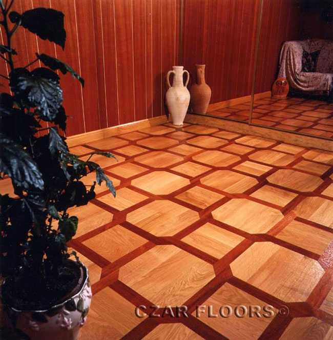 451: White Oak and Bloodwood parquet