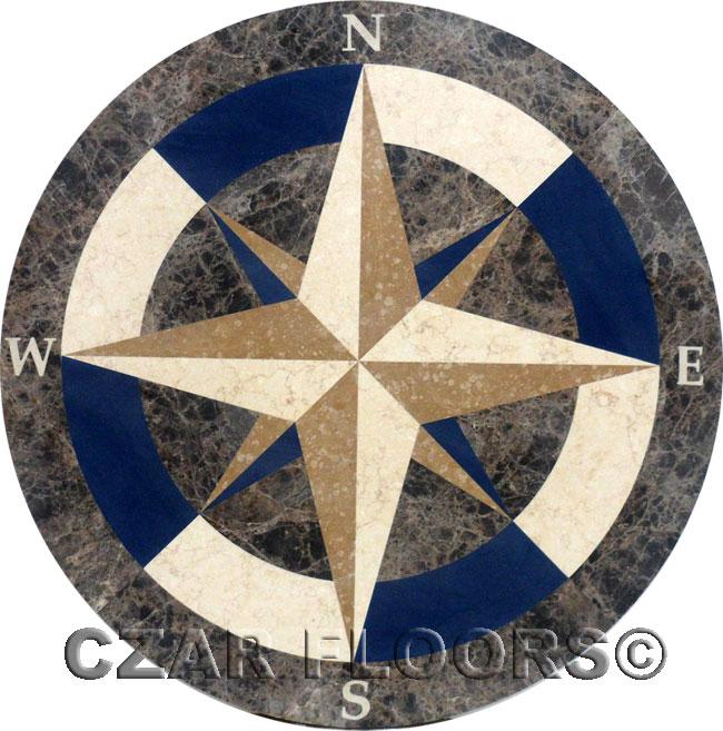 406: Custom Galaxy Stone Medallion with Blue Stone