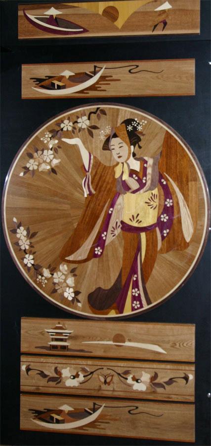134: Japanese girl Medallion