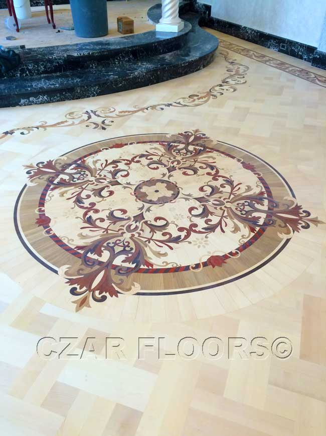 479: magic wood floor medallion