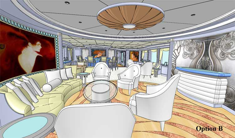 Designer drawing of the custom yacht wood floor
