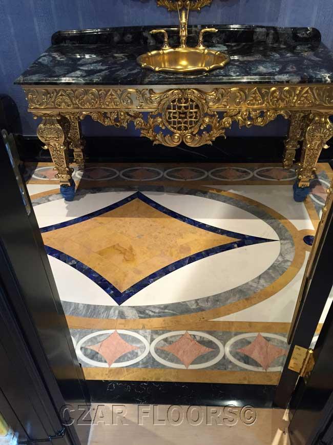 474: Marble design in bathroom
