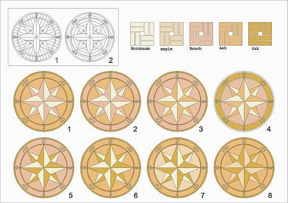 56: Compass Rose Medallion Options