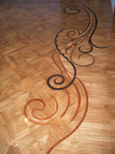 Example Of Wood Custom Flooring Custom Inlay Id114