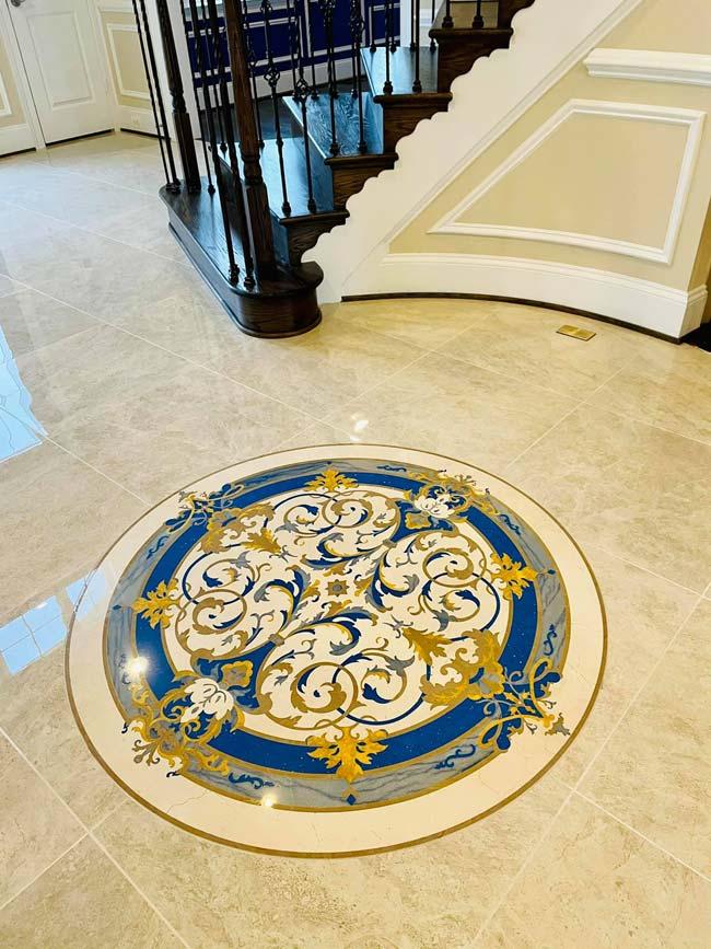 603: Custom Rafael marble medallion