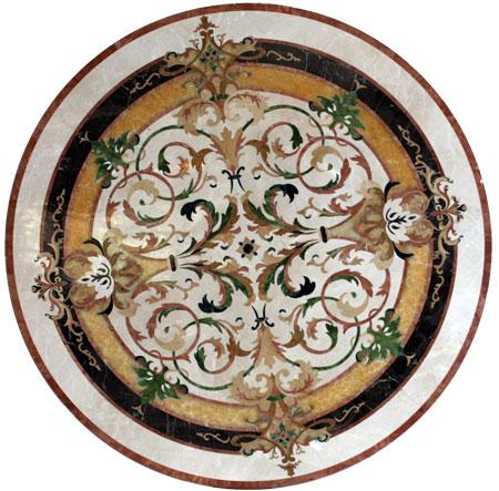 338: Lucerne marble medallion