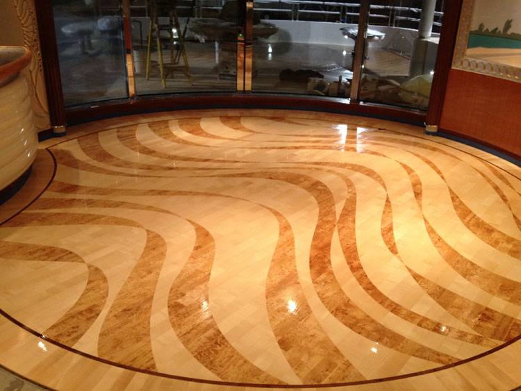 Installed floor after finish with polyurethane