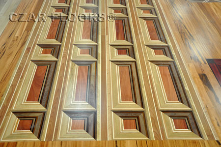 362: Parquet Florizel has 3D appeance all made using shades of different woods
