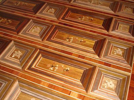 334: 3D unbelievable look of the Florizel parquet. It is flat!