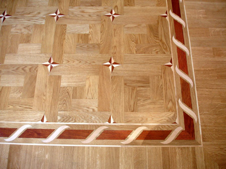 105: B2 border with M18 parquet