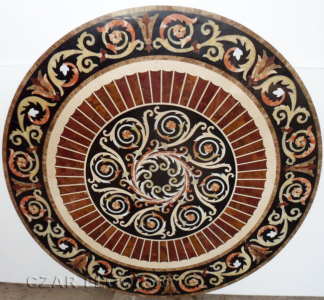 426: SP37 marble floor medallion