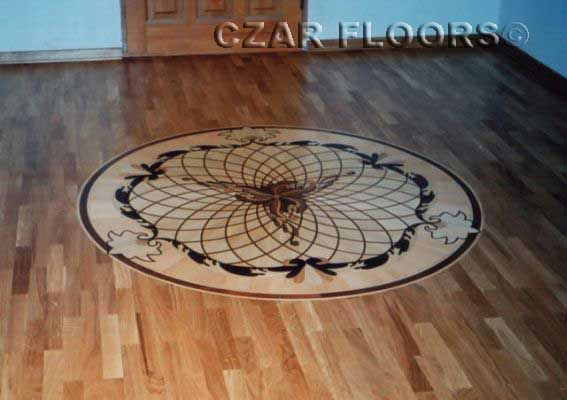 30: P5 Medallion makes a great focal point in the plank floor