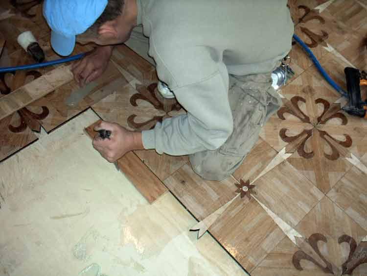 Parquet Tiles pushed together to minimize gaps