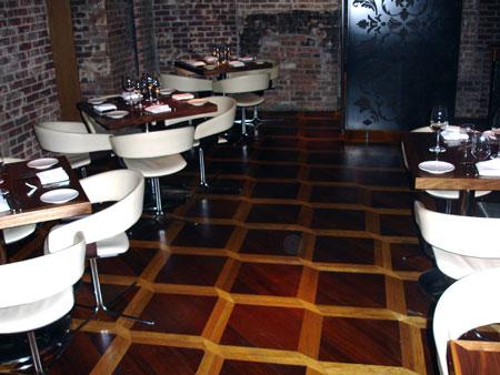 304: MX4 Parquet installation in Amalia restaurant in Manhattan