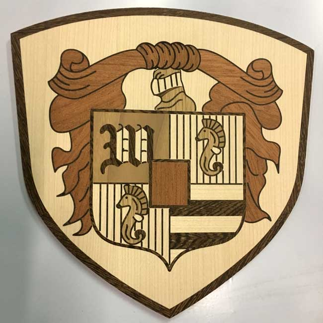 530: Small 8 inches crest for table inlay