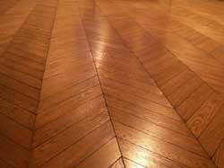 Chevron or French herringbone floor