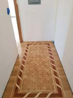 ID:545; Hallway with B2 border and custom parquet