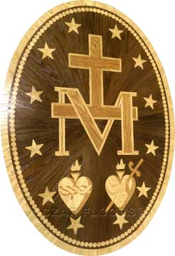 Custom wood medallion for church