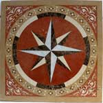 ID:415; Stone waterjet medallion Polaris