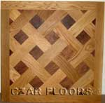 Versailles parquet example with White Oak and Walnut - ID:392