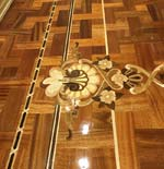 ID:539; Wood Inlay Border, inlay in basket weave parquet
