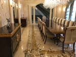 ID:586; Dining Room with custom whole-room marble design