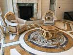 ID:521; Part of custom marble room design